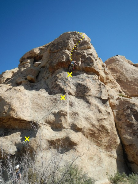 Rock Climbing Photo: Fun Stuff indeed.  Three bolts lead to an easily-p...