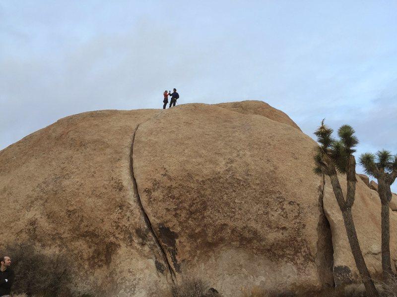 Rock Climbing Photo: Kevin and Kat at the top.