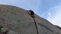 Rock Climbing Photo: Hanging out on Elsa's Crack