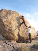 Rock Climbing Photo: My son Christian sending a beautiful crack.