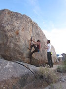 Rock Climbing Photo: Christian starting out on a great boulder problem.