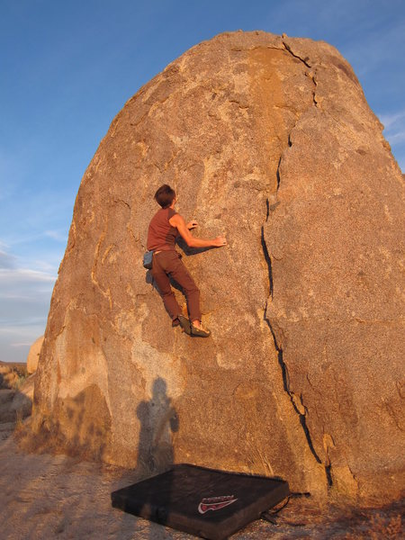One of Wagon Wheel's many boulders