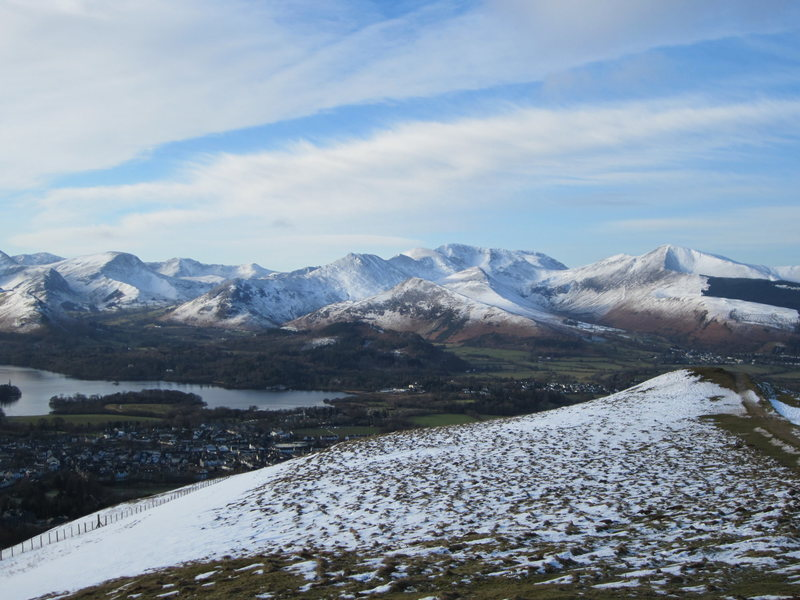 Winter Feb 5 .. From Latrigg above town of Keswick