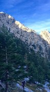 Rock Climbing Photo: Cruzin up to the super cirque that is the Others. ...