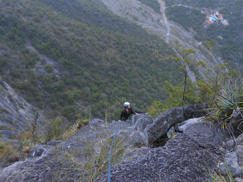 Rock Climbing Photo: Last pitch of Treasure of the Sierra Madre