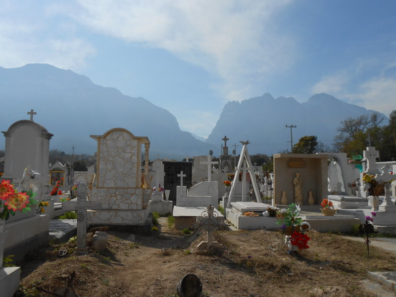 Walking around Hidalgo, we decided to check out the cemetary