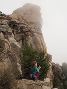 Rock Climbing Photo: A view of the western face of Sphinx Rock from the...