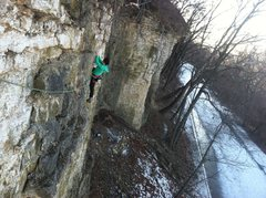 Rock Climbing Photo: Jasmin following on the first ascent of Across the...