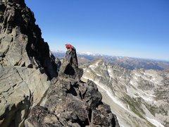 Rock Climbing Photo: Scoping out downclimb