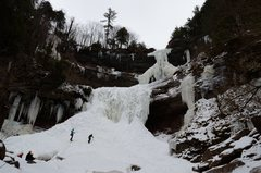 Rock Climbing Photo: Lower & upper Kaaterskill Falls. Winter 2014.