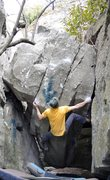 "Rock Climbing Photo: Parlier on the start and FA of ""Diamonds Stan..."