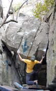 """Rock Climbing Photo: Parlier on the FA of """"Diamonds Are Forever&qu..."""