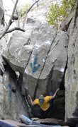 """Rock Climbing Photo: Parlier a few moves in on the FA of """"Diamonds..."""