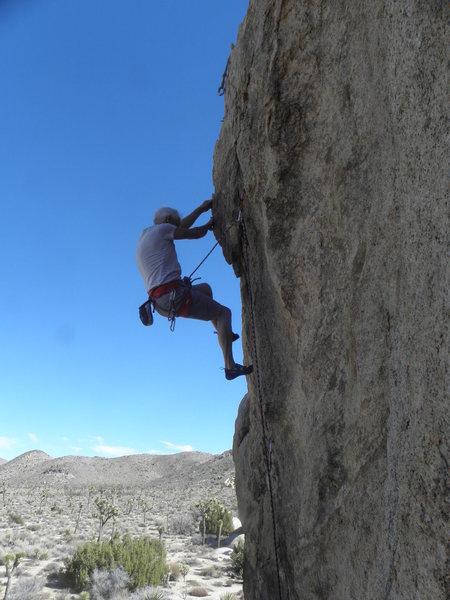 Rock Climbing Photo: R.R. on L.P.