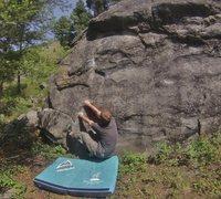 Rock Climbing Photo: Zac startin down low on Monkey Swing