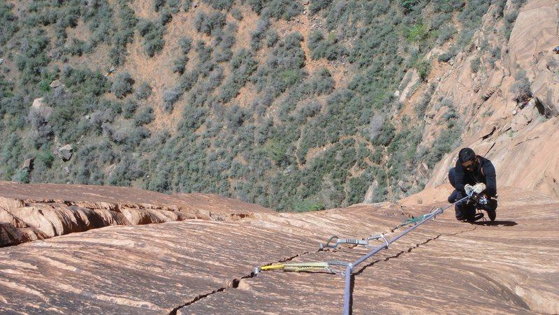 Rock Climbing Photo: splitter wall
