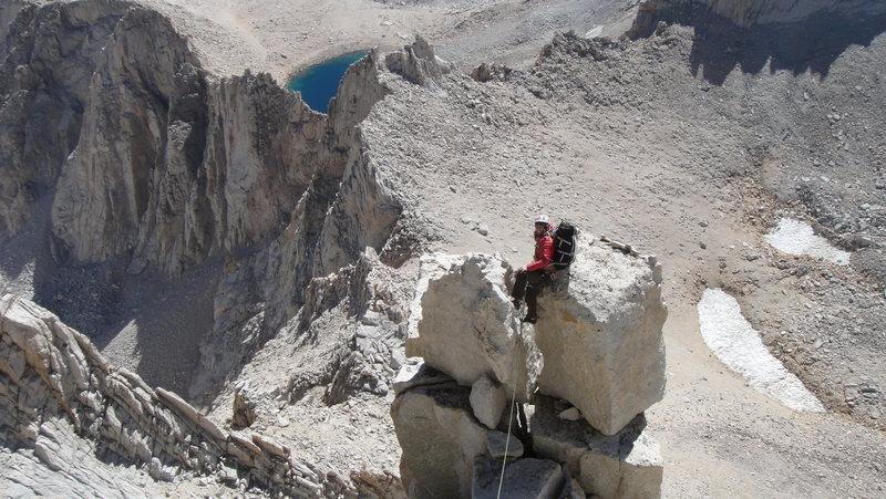 Rock Climbing Photo: Nearing summit