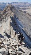 Rock Climbing Photo: Descending looking west