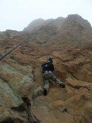 Rock Climbing Photo: Chris Hatzai starts up Call of the Wild in winter ...