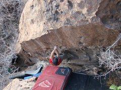 Rock Climbing Photo: Cross!