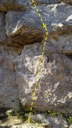 Rock Climbing Photo: The start (crux is just below the first bolt at th...