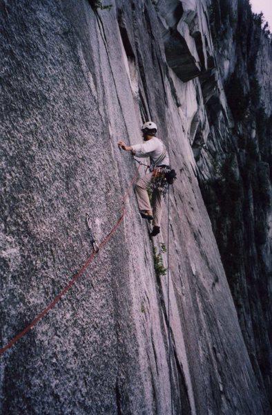 Rock Climbing Photo: Thin traverse