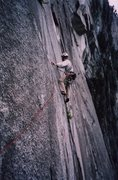 Rock Climbing Photo: Thin traverse