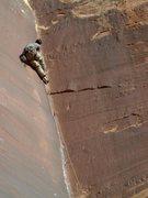Rock Climbing Photo: Around the crux