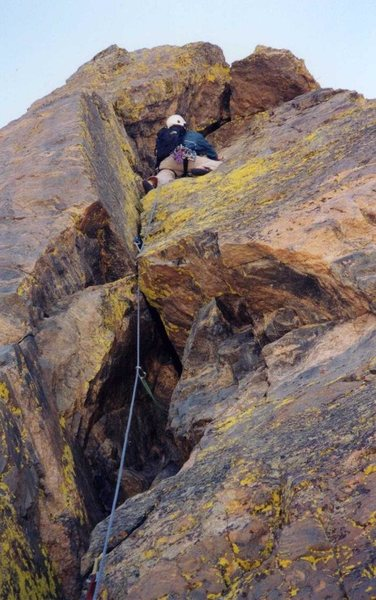 Rock Climbing Photo: Somewhere on the route. I'm pretty sure from the r...