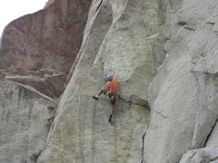 Rock Climbing Photo: Thrilling flake