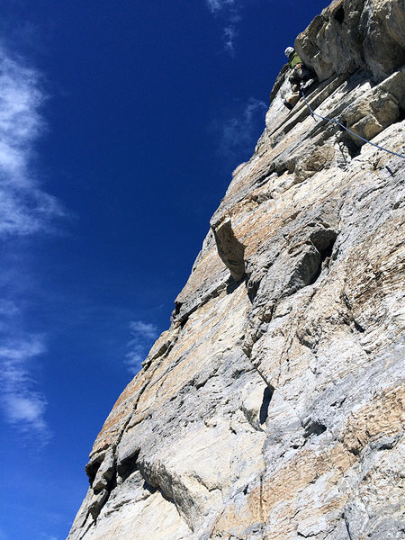 Rock Climbing Photo: Ryan on lead.