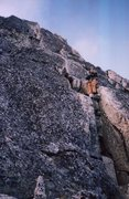 Rock Climbing Photo: Typical great rock up an obvious line