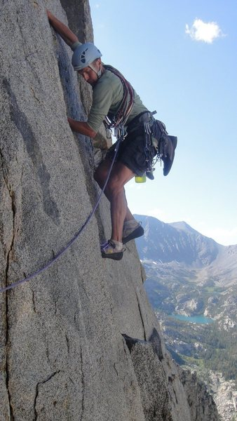Rock Climbing Photo: Great views high in the arete