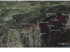 Rock Climbing Photo: (1) Aerial of Cedar Park and approach info for the...
