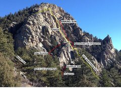 Rock Climbing Photo: (2) Approach detail of West Buttress for Sinking S...