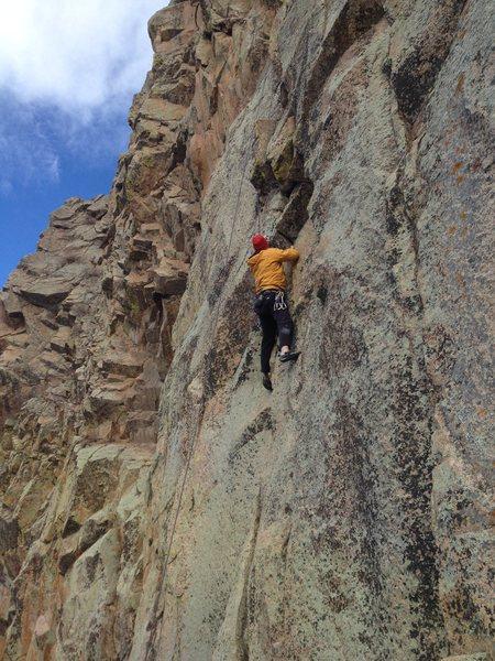 Tom climbing.