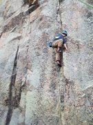 Rock Climbing Photo: Noah climbing.
