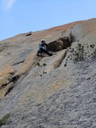 Rock Climbing Photo: Almost at p1 crux