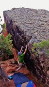 Rock Climbing Photo: Making the first move to the incut edge on Iconocl...
