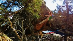 Rock Climbing Photo: Working the heel hook on Through Eyelids of Skin.