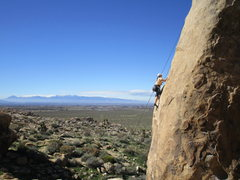 Rock Climbing Photo: Unknown climber on a very photogenic route.