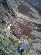 Rock Climbing Photo: 2nd to last pitch on the Whitney Gilman ridge.
