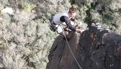Rock Climbing Photo: Climbing the arete for the finish