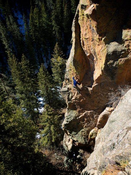 Rock Climbing Photo: Dave cranking on Transmogrifier. February 2015.