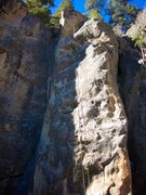 Rock Climbing Photo: Tueplo with added two bolt finish on headwall to r...