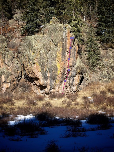 Rock Climbing Photo: The Wart seen from the standard Las Conchas trail....