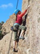 """Rock Climbing Photo: Working the moves on """"Spurmicide."""""""