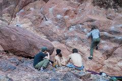 Rock Climbing Photo: Monkey Traverse, Flagstaff Mtn.