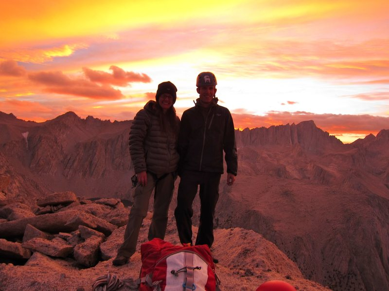 Summit shot with my husband