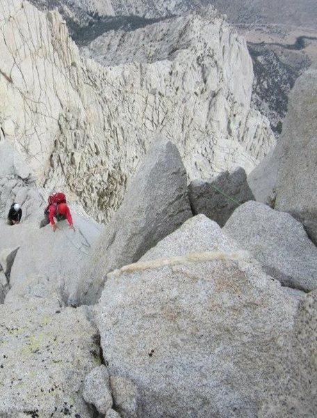 Scrambling up the North Ridge